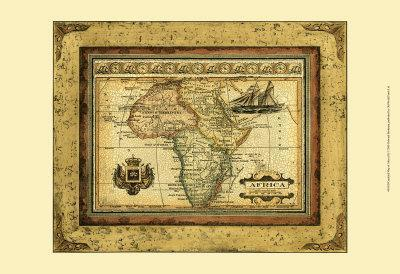 Crackled Map of Africa