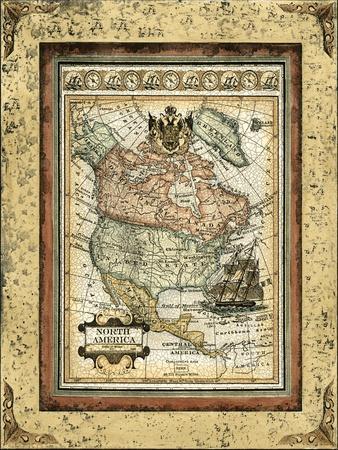 Crackled Map of North America