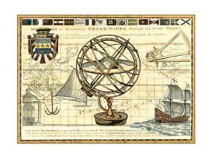 Nautical Map I by Deborah Bookman
