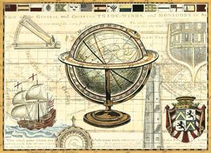 Nautical Map II by Deborah Bookman