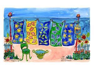 Beach Laundry by Deborah Cavenaugh