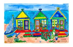 Seaside Row Houses by Deborah Cavenaugh