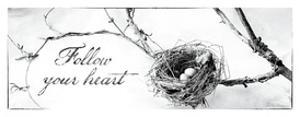 Nest and Branch III Follow Your Heart by Debra Van Swearingen