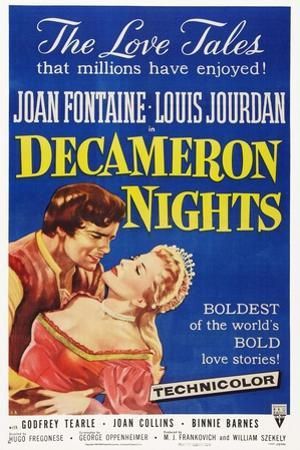 Decameron Nights, from Left: Louis Jourdan, Joan Fontaine, 1953