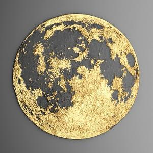 3D Wall Art Picture Modern Moon Gold by deckorator