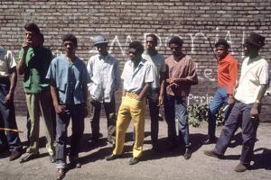 African American Men in Chicago Street Gang Devils Disciples, Chicago, IL, 1968 by Declan Haun