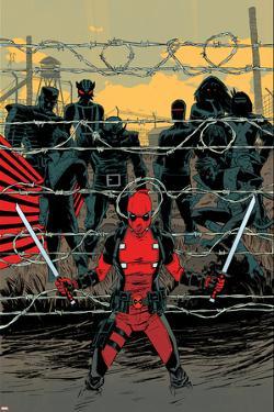 Deadpool #16 Cover: Deadpool, Colossus, Sunfire, Banshee, Wolverine, Cyclops, Storm, by Declan Shalvey