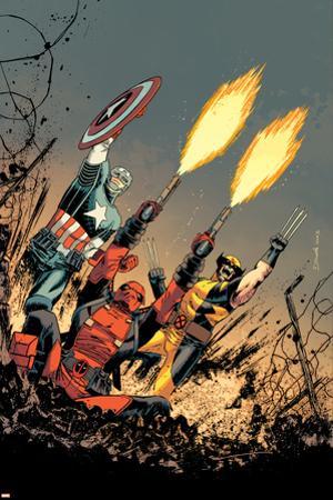 Deadpool #17 Cover: Deadpool, Captain America, Wolverine by Declan Shalvey