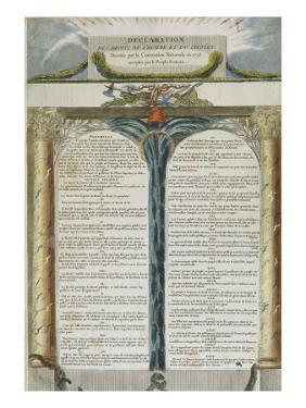 Déclaration des Droits de l'Homme et du Citoyen décrétés par la Convention Nationale en 1793,