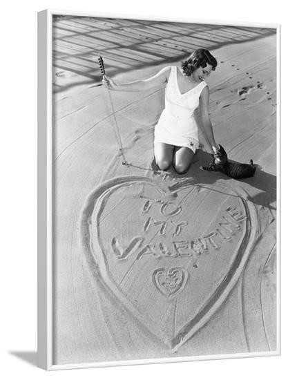 Declaration of Love--Framed Photo