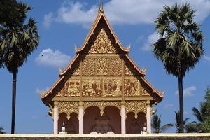 Decorated Tympanium, Wat That Luang Neua Pagoda, Vientiane (Viangchan), Laos, 20th Century