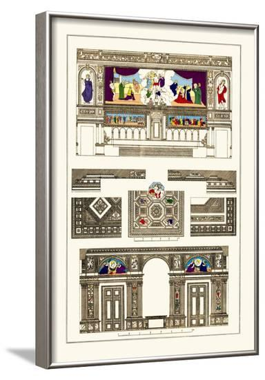 Decoration of Large Halls, Polychrome-J. Buhlmann-Framed Art Print