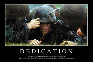Dedication: Inspirational Quote and Motivational Poster