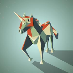 Three Dimensional Magic Origami Unicorn from Folded Paper by dedron