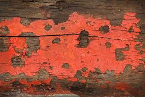Red Grunge Wood Texture Background Old Panel by dedukh