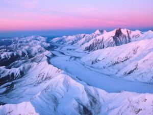 Alaska Range with Alpen Glow, Denali National Park, Alaska, USA by Dee Ann Pederson