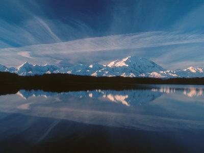 Mt. McKinley Reflecting In Reflection Pond, Denali National Park, Alaska, USA