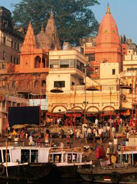 The Ganges River in Varanasi, India by Dee Ann Pederson