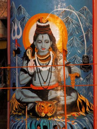 Vishnu Hindu God Mural, India
