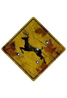 Deer Crossing Hunting Sign