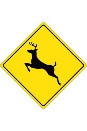 Deer Crossing Sign Plastic Sign