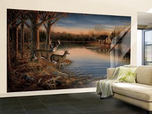 Deer Huge Mural Art Print Poster Large