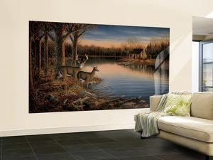 Deer Huge Mural Art Print Poster Small