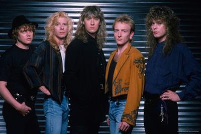 Def Leppard - Hysteria Tour Photo Shoot 1987
