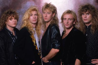 Def Leppard - Tour Photo Shoot 1987