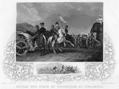 Defeat and Death of Dhoondiah at Conaghull, C19th Century by J Rogers