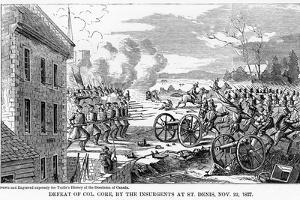 Defeat of Colonel Gore, by the Insurgents at St Denis, 22 November 1837
