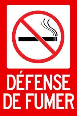 Defense De Fumer French No Smoking Sign Poster