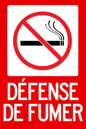 Defense De Fumer French No Smoking