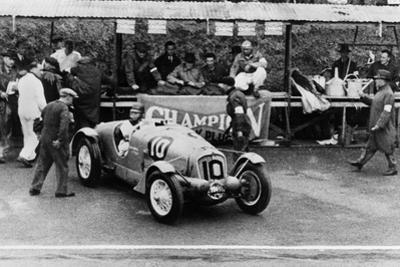 Delahaye 135S driven by Rene Le Begue and Nicolas Mahe, at the Ulster TT Ards 1936