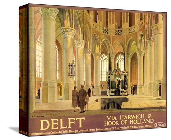 Delft-Anton van Anrooy-Stretched Canvas Print