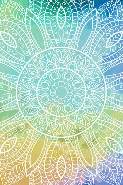 Lacy Watercolor Mandala by della_liner
