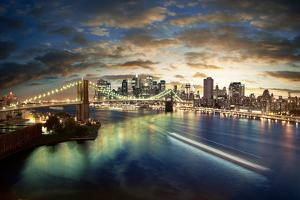 Amazing New York Cityscape - Taken After Sunset by dellm60