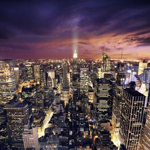 Big Apple after Sunset - New York Manhattan at Night by dellm60