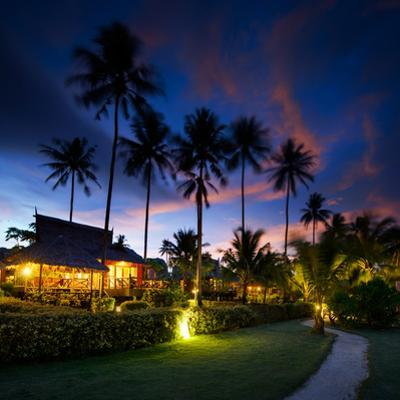 Bungalows at Sunset in Thailand Paradise by dellm60