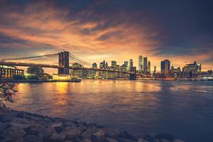 New York City at Sunset by dellm60