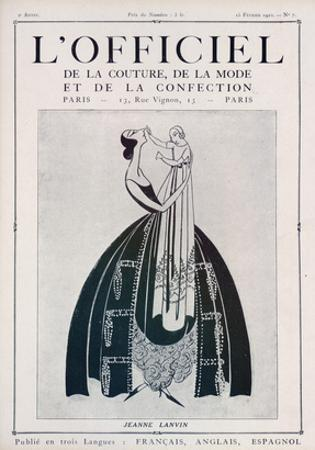 L'Officiel, February 15 1922 - Jeanne Lanvin (Illustration) by Delphi