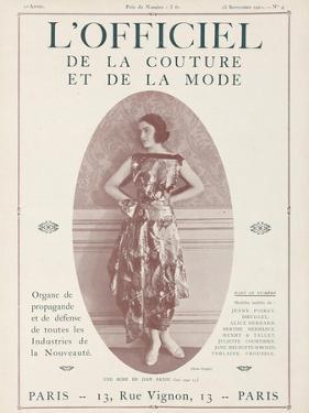 L'Officiel, September 15 1921 - Réverie d'Opium, Robe Jean Patou by Delphi