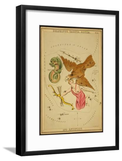 Delphinus, Sagitta and Aquila Constellations, 1825-Science Source-Framed Giclee Print