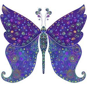 Swirls Butterfly by Delyth Angharad