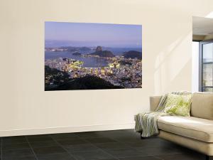 Botafogo and Sugarloaf Mountain from Corcovado, Rio de Janeiro, Brazil by Demetrio Carrasco