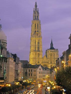 Cathedral at Antwerp, Belgium by Demetrio Carrasco