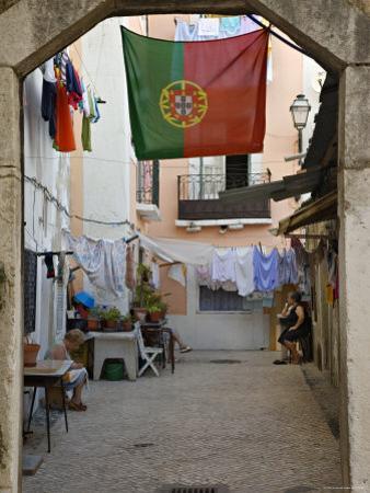 Courtyard, Lisbon, Portugal