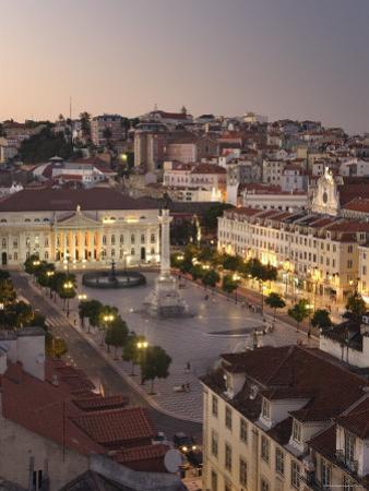 Praca Do Pedro Iv Square, Lisbon, Portugal by Demetrio Carrasco