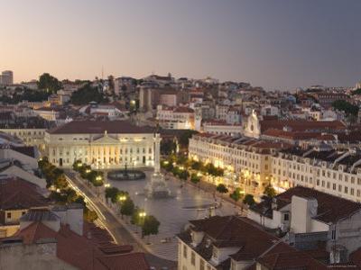 Praca Do Pedro Iv Square, Lisbon, Portugal