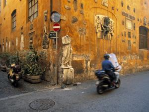 Scooter in Street, Rome, Italy by Demetrio Carrasco